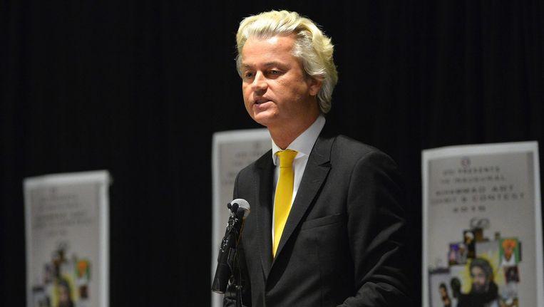 Geert Wilders kwam op het idee na de aanslag op 4 mei in het Texaanse Garland, waar hij net voor de feiten een toespraak had gehouden (foto).