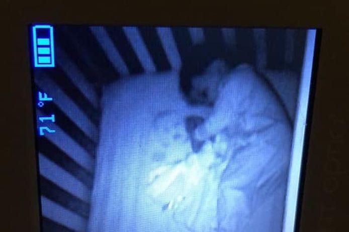 Op de babymonitor was een 'babygeest' zichtbaar