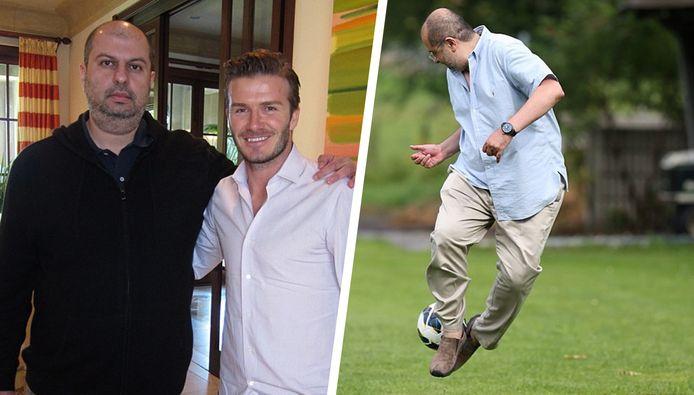 Abdullah bin Mosaad bin Abdulaziz al Saud met David Beckham.