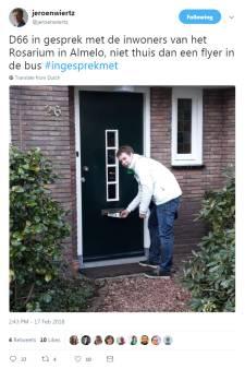 Ophef over tweetje D66 Almelo: flyert partij ongewenst langs de deuren?