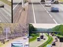 Rijkswaterstaat vervangt 76 camera's langs de A28 bij Zwolle. Het beeld verandert van analoog naar digitaal (rechtsonder).