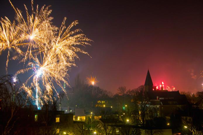 De jaarwisseling in Harderwijk.