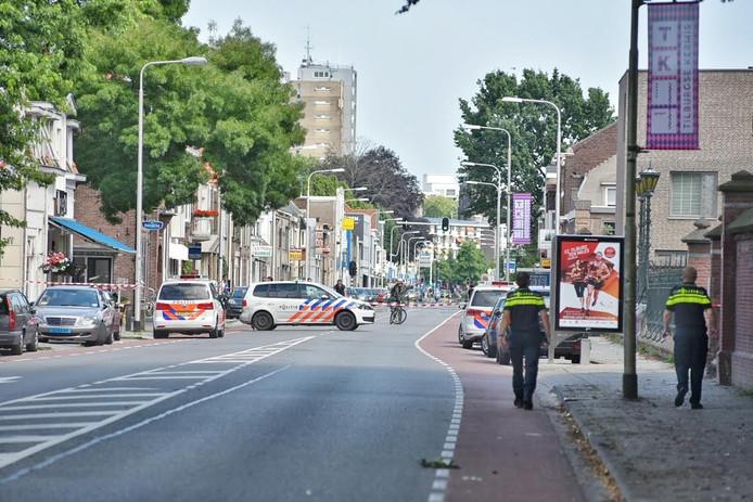 De schietpartij vond plaats op de Bredaseweg in Tilburg.