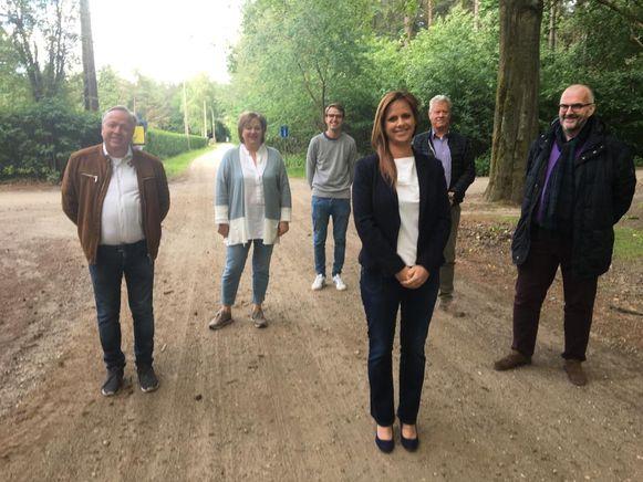 Het Grobbendonkse gemeentebestuur is blij met de start van de aanleg van een veilig fietspad richting Vorselaar.