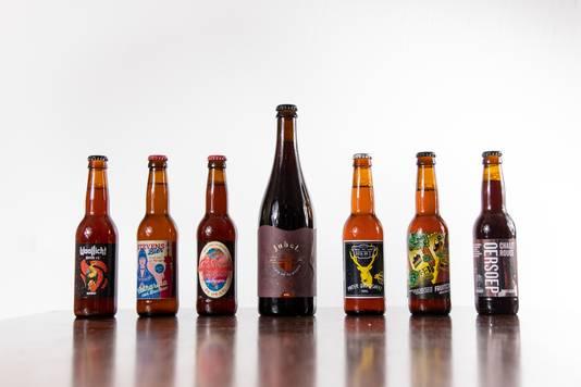 Deze zeven Nijmeegse bieren zijn door de brouwerijen ingezonden voor de bierproeverij van De Gelderlander.