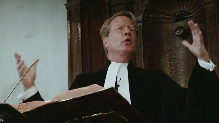Ad van Nieuwpoort, predikant in Bloemendaal en Overveen, in de documentaire 'Hier ben ik'. Beeld RV