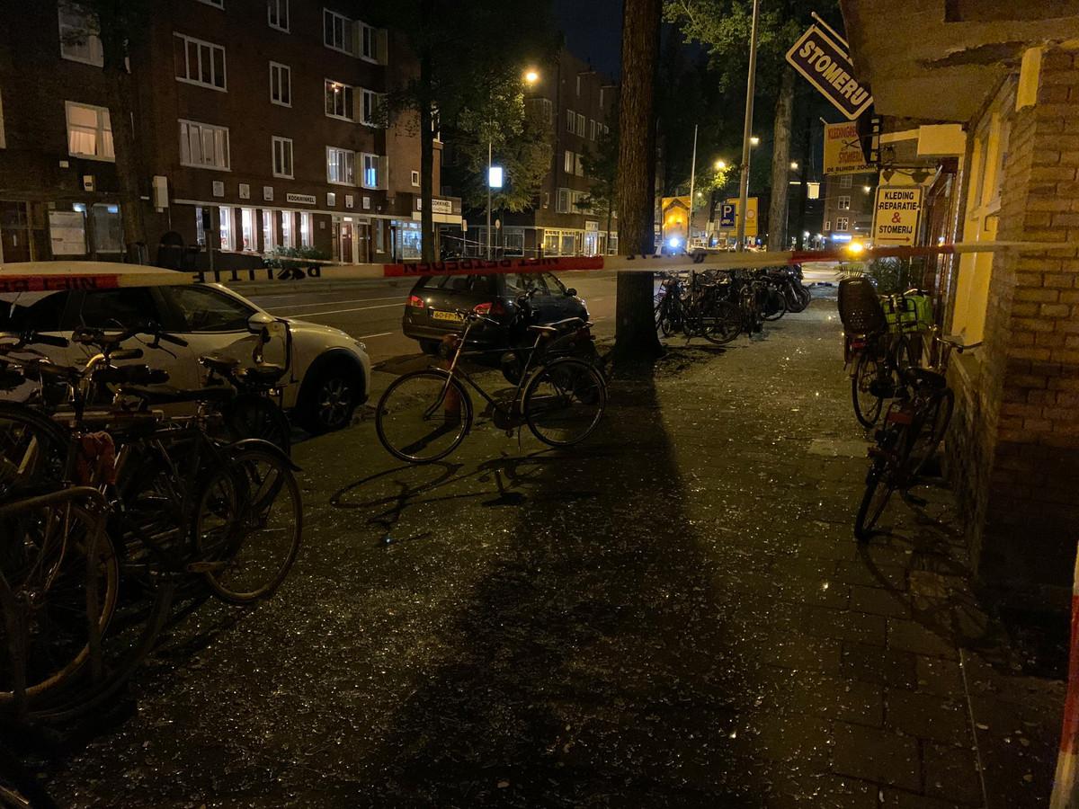 Plofkraak bij de Haarlemmermeerstraat, 15 oktober.