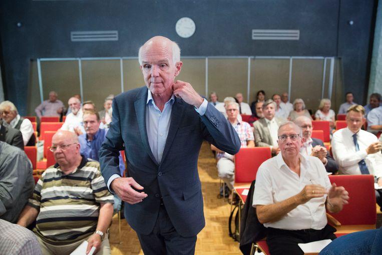 Geert Dales is voorzitter van 50Plus, maar provinciale leiders dreigen nu het vertrouwen in hem op te zeggen.  Beeld Arie Kievit