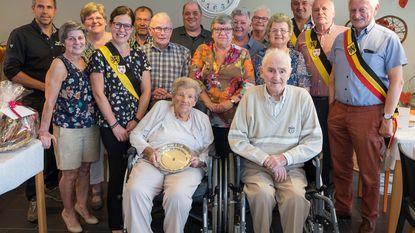 Vital Vanderhoeven en Maria Verschueren 70 jaar getrouwd