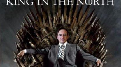 """N-VA deelt opmerkelijke foto van De Wever op Iron Throne: """"Brace yourselves, Bartje is coming"""""""