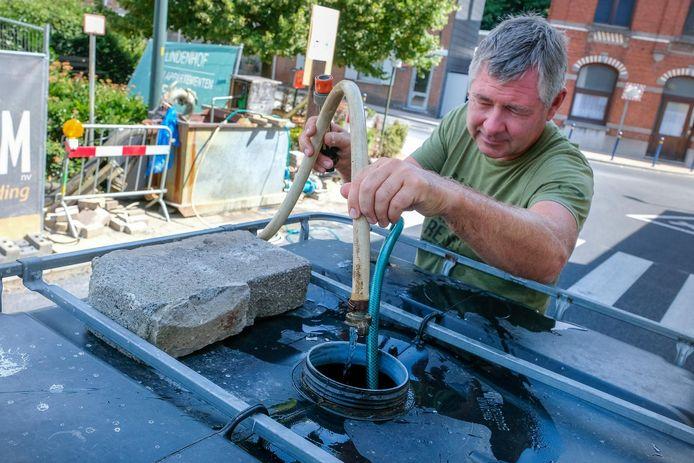In Hoeilaart kon men vorig jaar gratis grondwater afhalen bij een bouwproject met grondwaterbemaling.