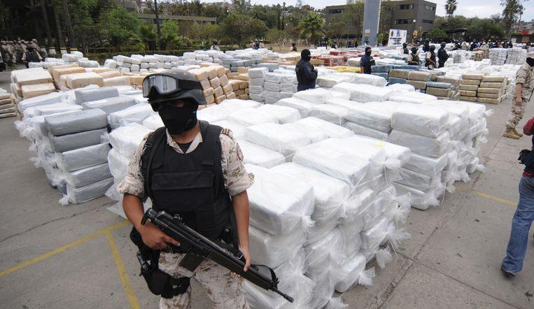 Trump zei eerder deze week dat hij al maanden werkt aan een plan om de drugskartels in Mexico harder aan te pakken.  Beeld AFP