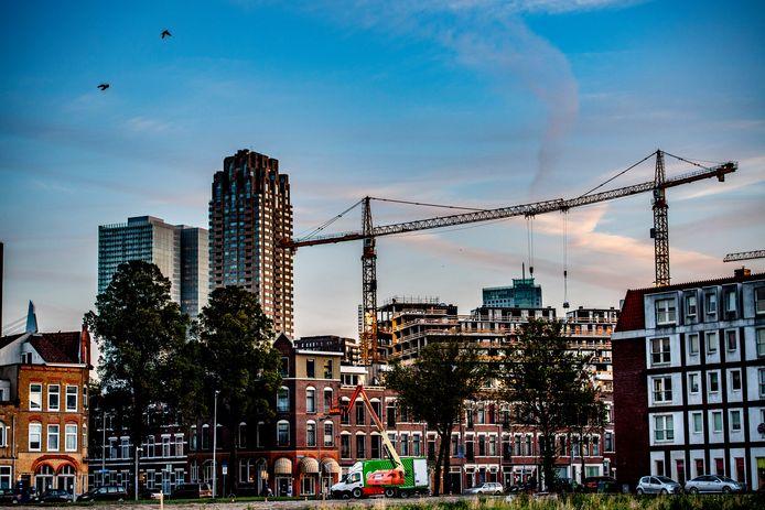Er worden 1500 tot 3000 huurwoningen in Rotterdam bijgebouwd.