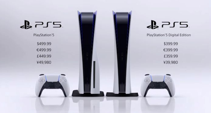 De Playstation 5 heeft twee versies.