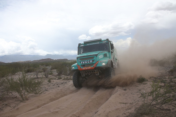 Gerard de Rooy tijdens de Dakar Rally in Argentinië