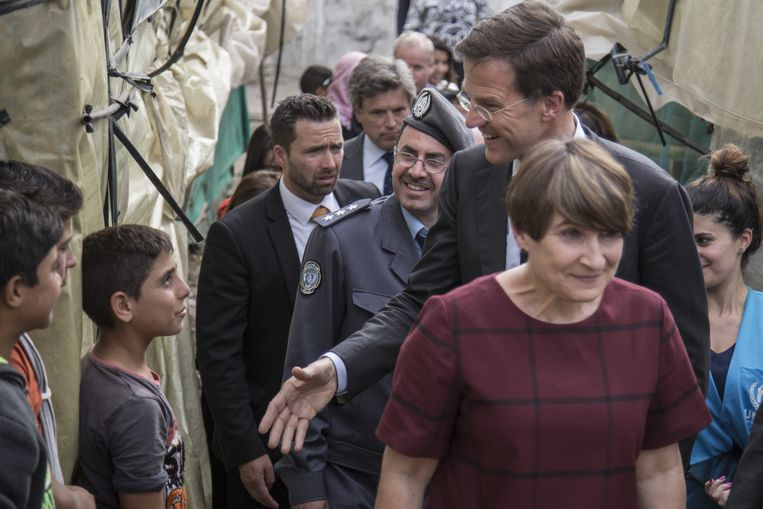 Premier Mark Rutte en Lilianne Ploumen. Beeld Sam Tarling