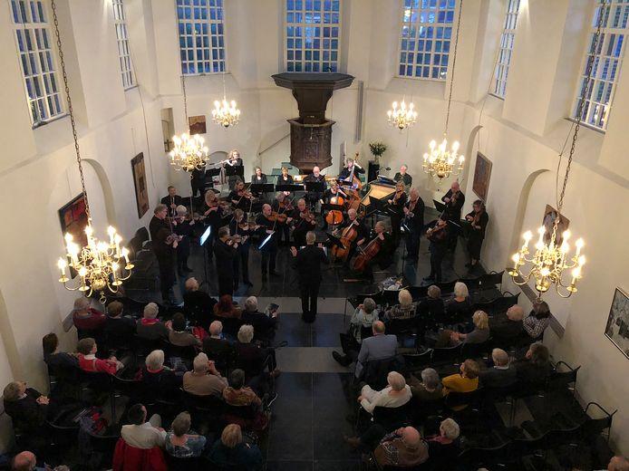 Het barokorkest Megen tijdens een concert in Vught.
