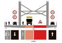 Verkeerssituatie Waalbrug