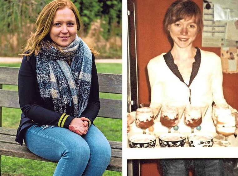 """Lynn Callens (27) leed zo'n vier jaar aan anorexia. Nu schreef ze het boek 'Return' over die periode. Rechts Lynn toen ze 19 was en nog 32 kg woog. Ze bakte toen ook graag cakejes en maakte graag dessertjes: """"Voor andere mensen. Zelf verbood ik me er van eten."""""""
