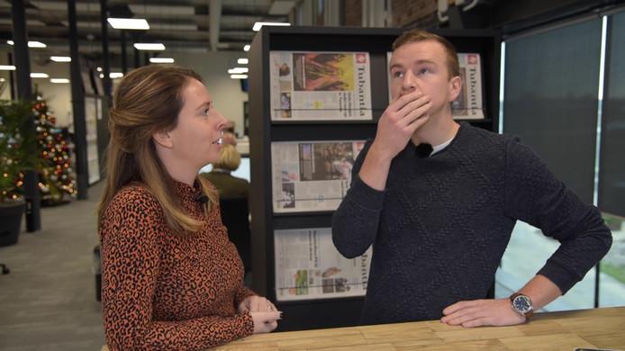 Verslaggevers Kelly Adams en Arjan te Bogt.