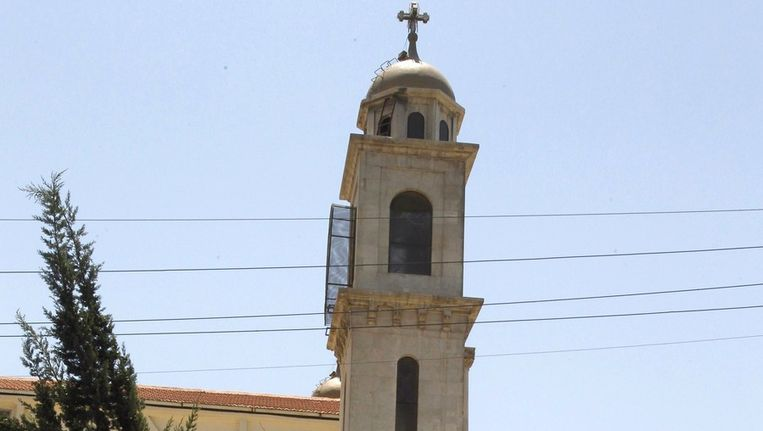 Katholieke kerk in Damascus. Beeld afp