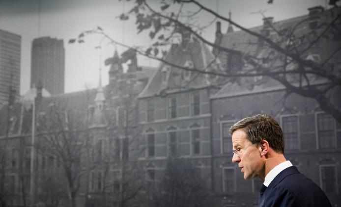 Minister-president Mark Rutte. De Europese Groenen vinden dat hij alleen maar de voordelen van Europa wil.