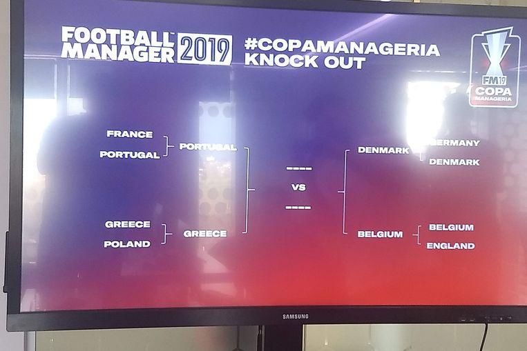 Stef moest het in de halve finale opnemen tegen Denemarken.