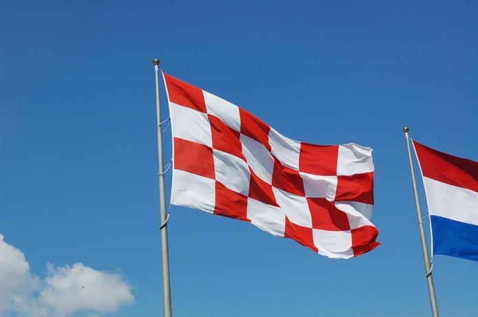 De provincievlag van Noord-Brabant.