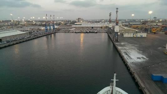 De haven van Ashdod, foto vanaf de AIDA Diva.