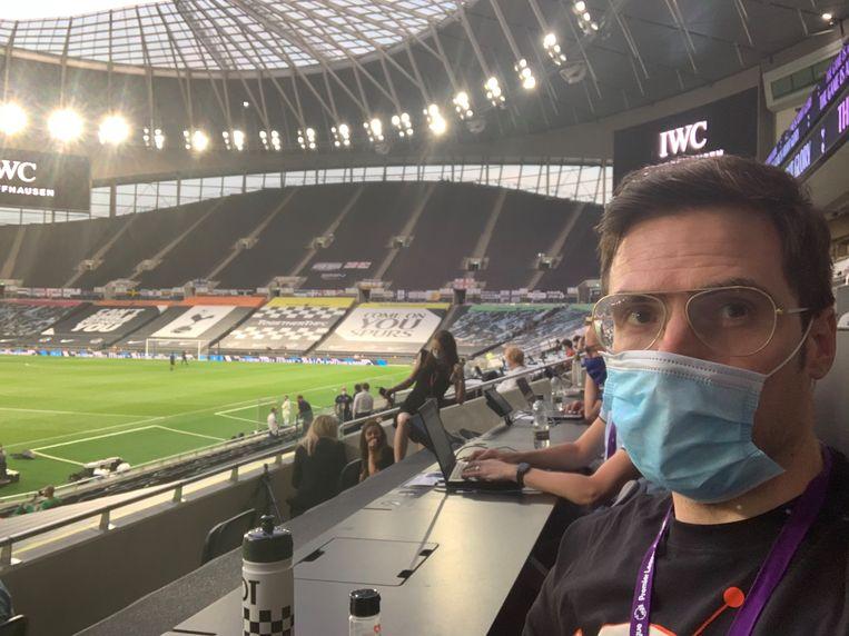 Kristof Terreur zat voor het eerst in drie maanden nog eens live op een voetbalwedstrijd.