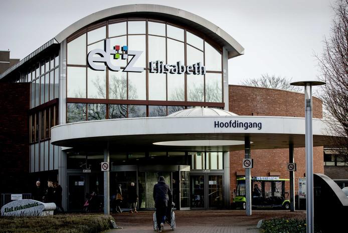 Exterieur van het Elisabeth-TweeSteden Ziekenhuis, locatie Elisabeth aan de Hilvarenbeekseweg, waar een patiënt is opgenomen met het coronavirus.