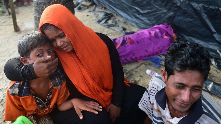 Rohingya-vluchtelingen in Bangladesh. Beeld afp