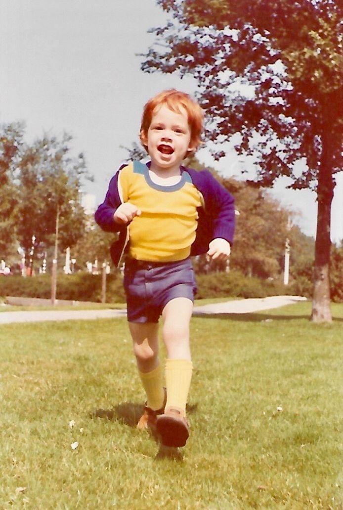 Mark Kosterink als kleine jongen.