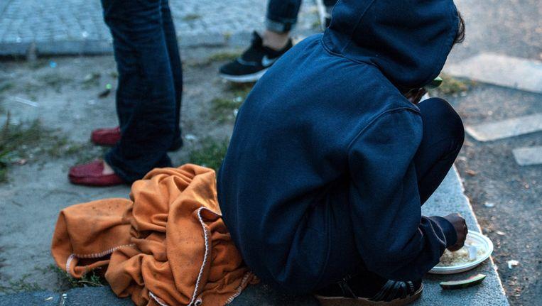 Archiefbeeld van een vluchteling in Berlijn.