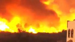 Bosbrand slorpt Spaanse huizen net niet op