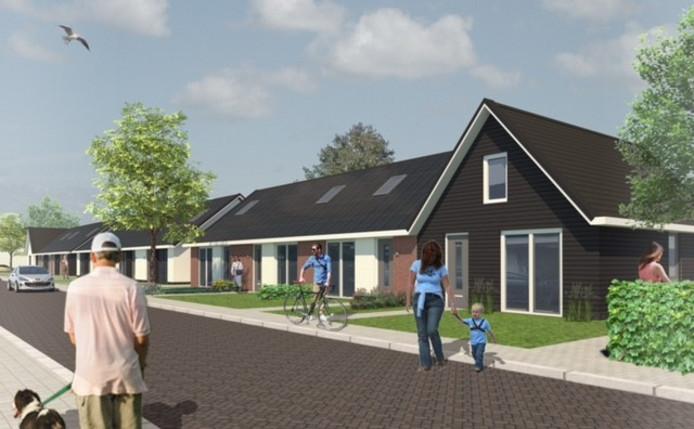 Een impressie van de nieuwbouw in de Unastraat in Nieuwerkerk