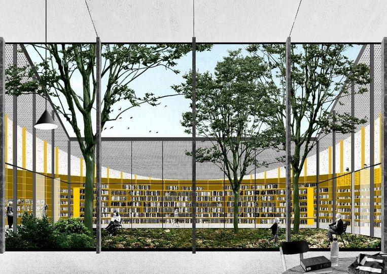 De toekomstige bibliotheek van Sint-Martens-Latem.