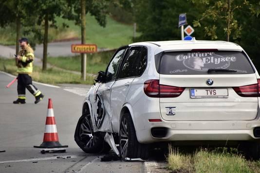 De BMW van kapster Ingeborg Huysentruyt.