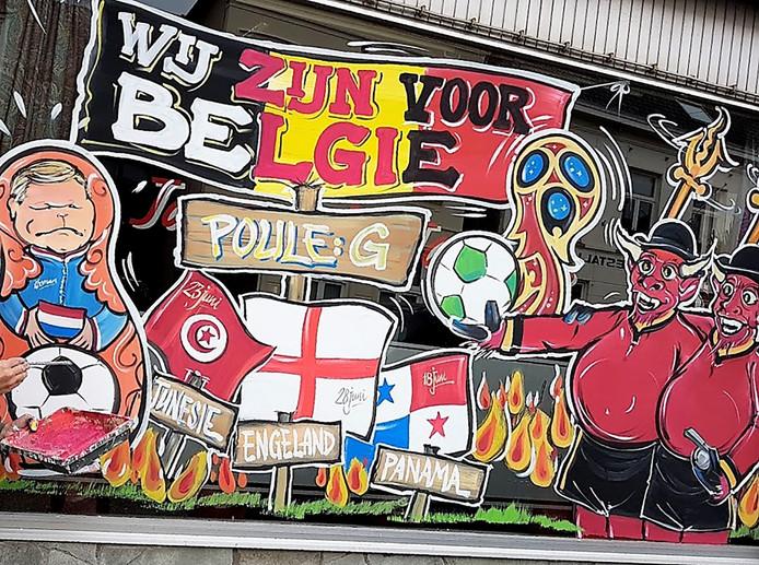 Roosendaals café Jansen en Jansens is voor de Belgen bij WK voetbal.