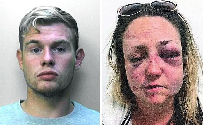 Matthew Johnson en zijn ex-vriendin.