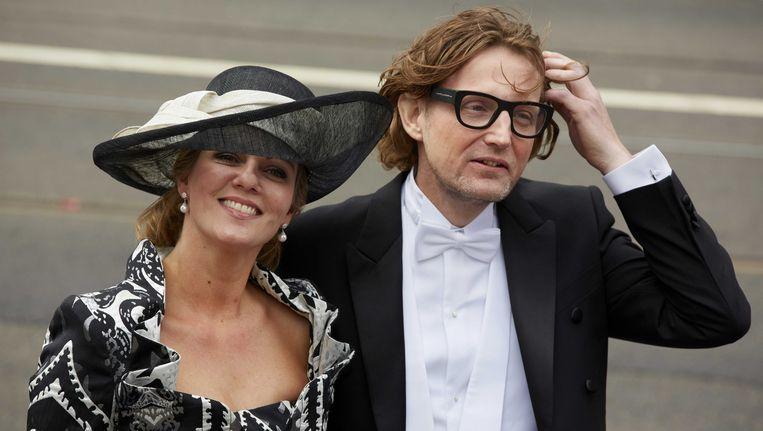 Prins Bernhard en zijn vrouw bij de inhuldiging van de koning op 30 april 2013. Beeld ANP