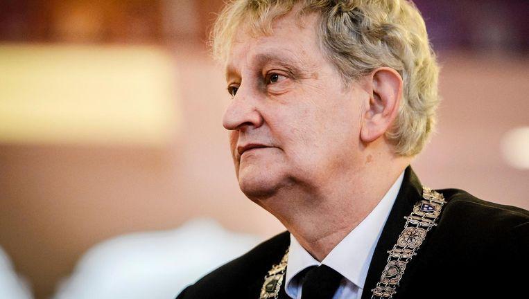 Burgemeester Van der Laan sprak van 'het geld dat Amsterdam niet in bezit wil hebben' Beeld aNP