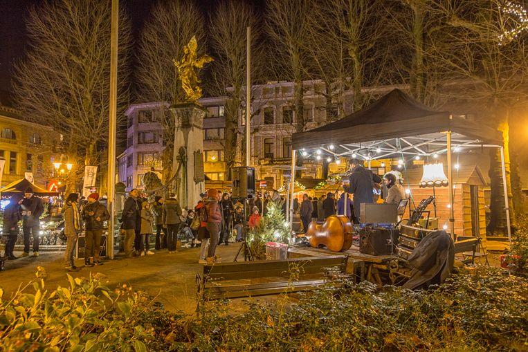 Het Regentieplein in Sint-Niklaas.