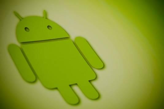 Het logo van Googles Android besturingssysteem