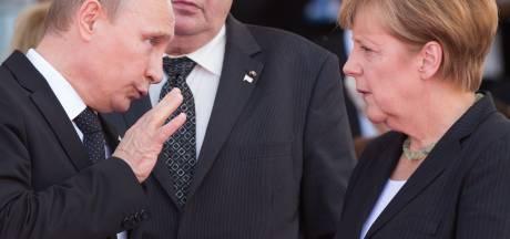 Poetin en Merkel: geen sympathie,  wel arbeidschemie