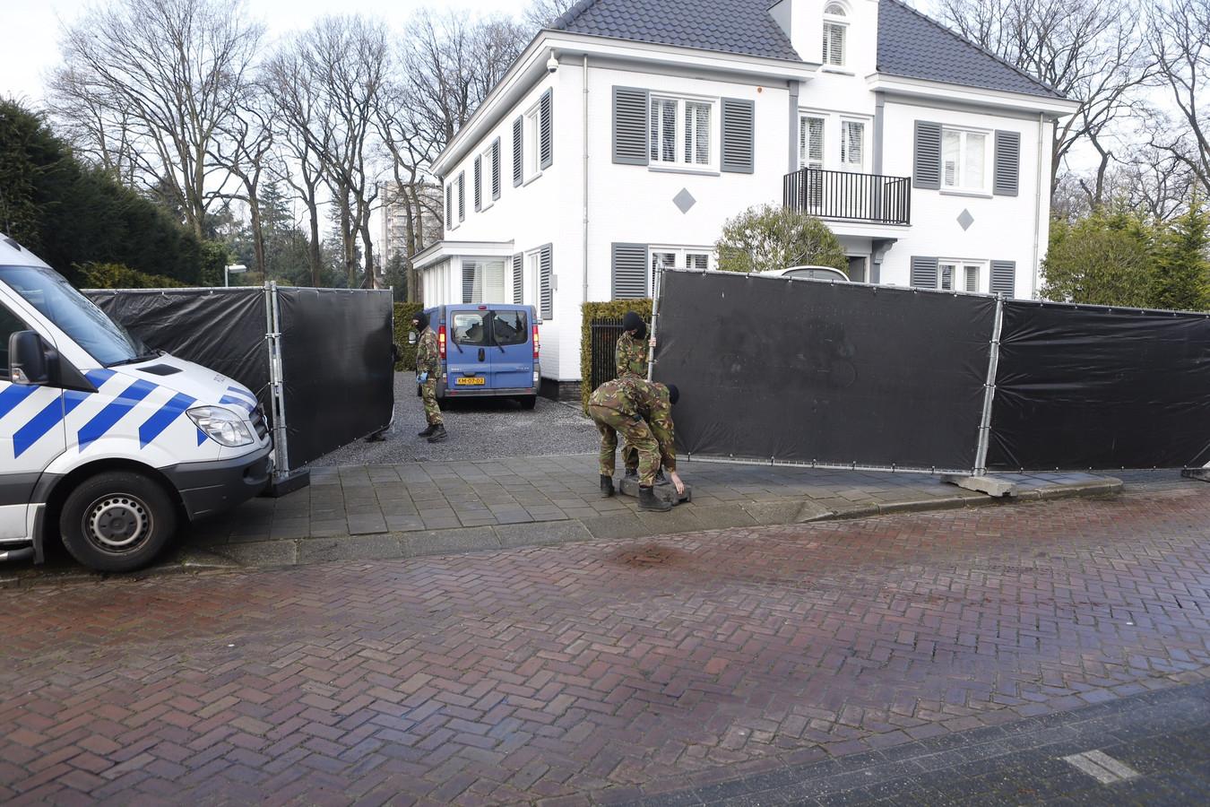 Inval bij een villa aan de Vogelkerslaan in Eindhoven.