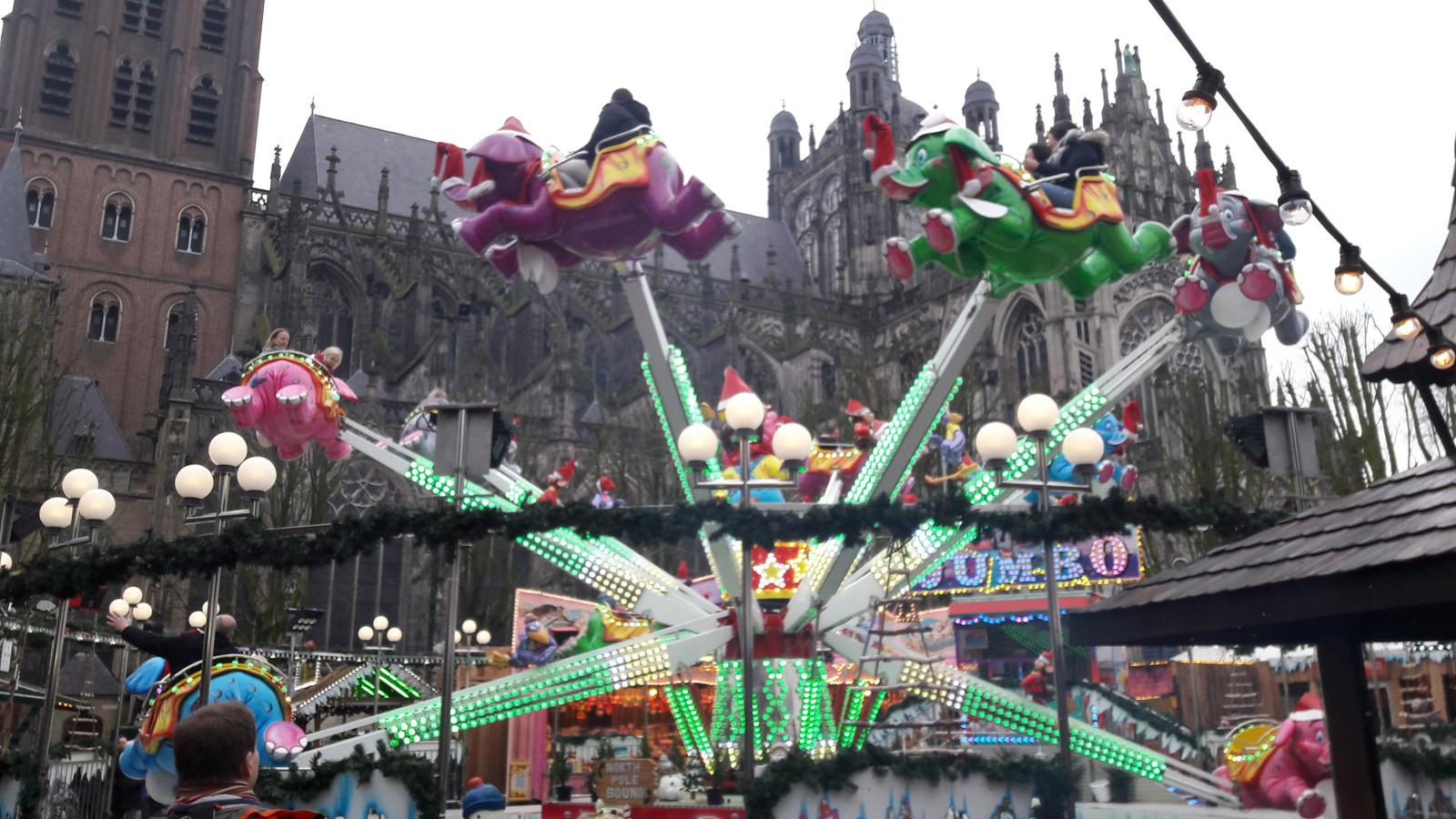 Een van de kinderattracties vorig jaar tijdens Winterland Den Bosch.