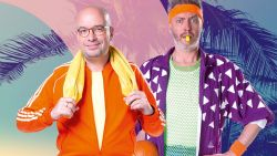 Joe-dj's warmen op in aerobic-outfit voor Celebrate the 80's Top 1000