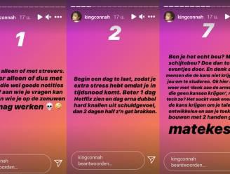 """Instagram Stories van Conner Rousseau over studeren zorgen voor ergernis op Twitter: """"Schandalig, een sociale partij niet waardig"""""""