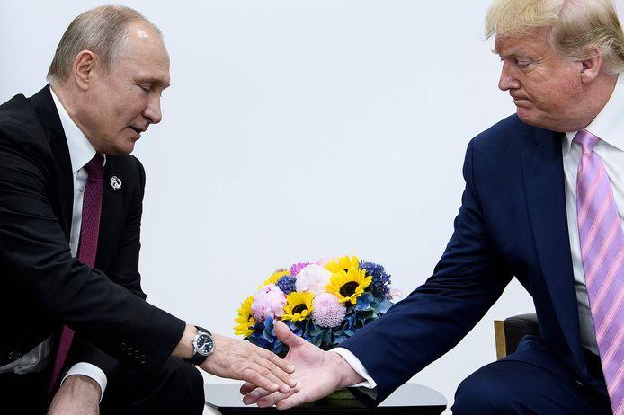 Russisch president Vladimir Poetin en Amerikaans president Donald Trump.